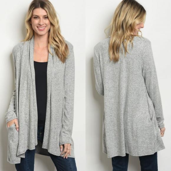 NEW Heathered Cardigan - Grey